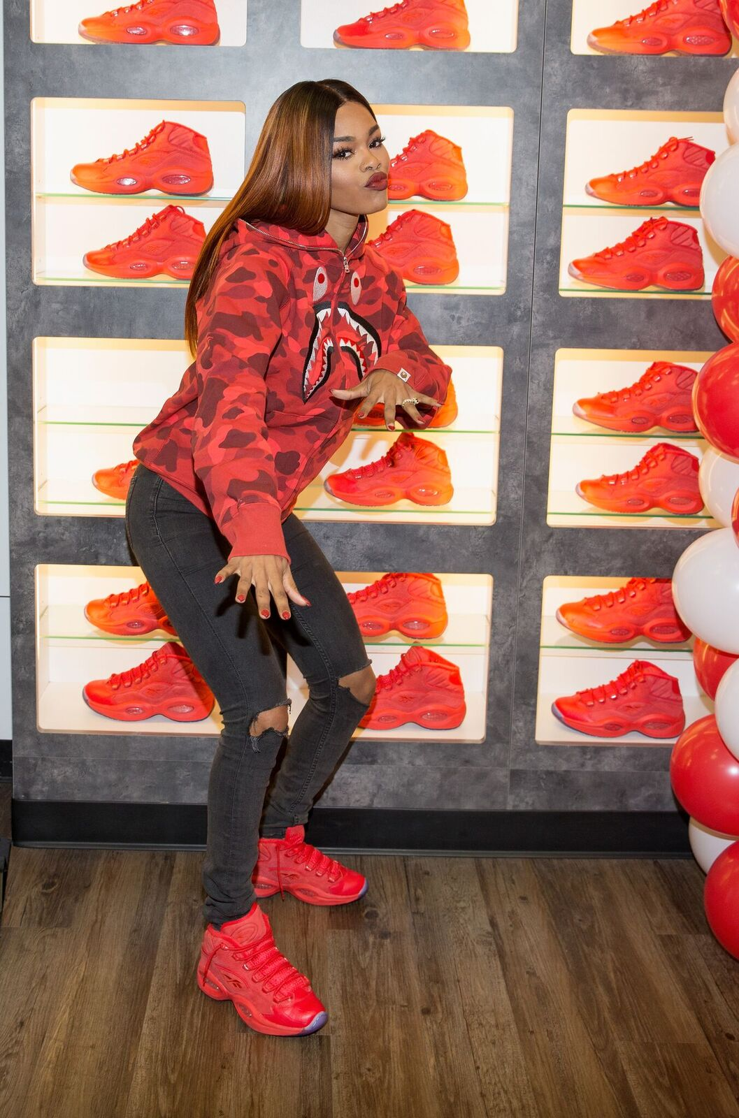 "3e6febe56523ff Reebok Debuts The Question Mid ""Teyana T"" Designed By Teyana Taylor ..."