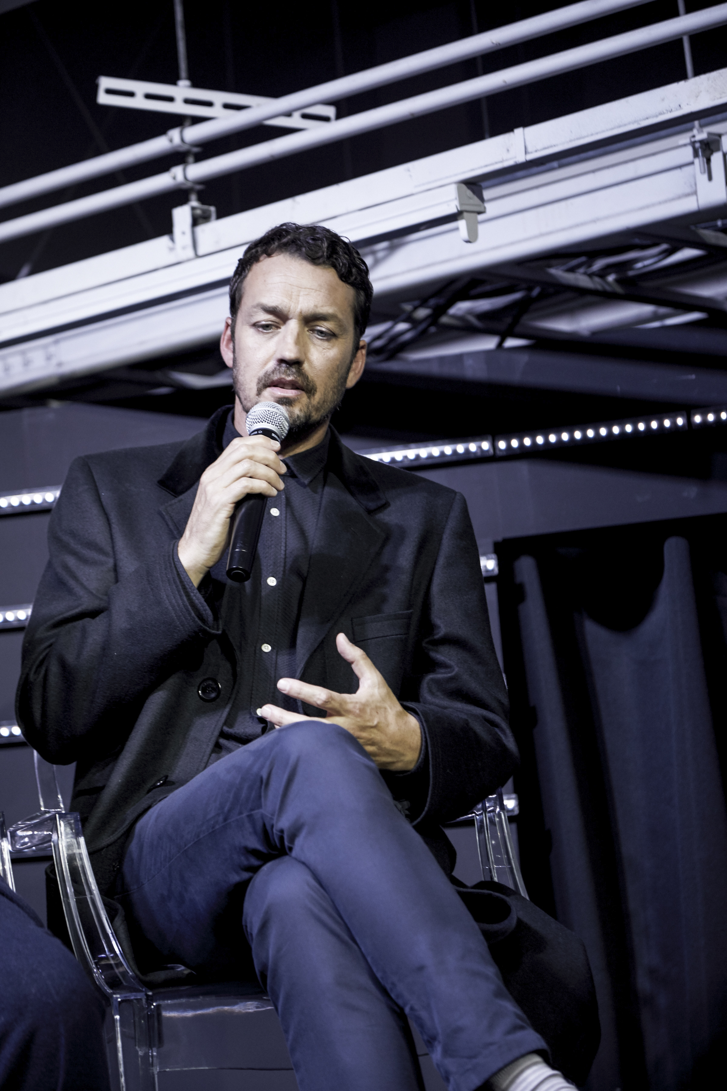 Rupert Sanders on stage during the Ghost in the Shell Fan Event at Tabloid in Tokyo, Japan November 13, 2016
