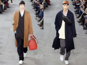 Louis Vuitton debuts Supreme collaboration during their FW17 Runway Show at Paris Fashion Week