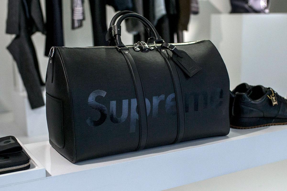 b635d4cb4be Louis Vuitton x Supreme Unveil Collaboration at Paris Fashion Week ...