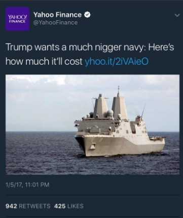 yahoo-finance-nigger-navy-tweet