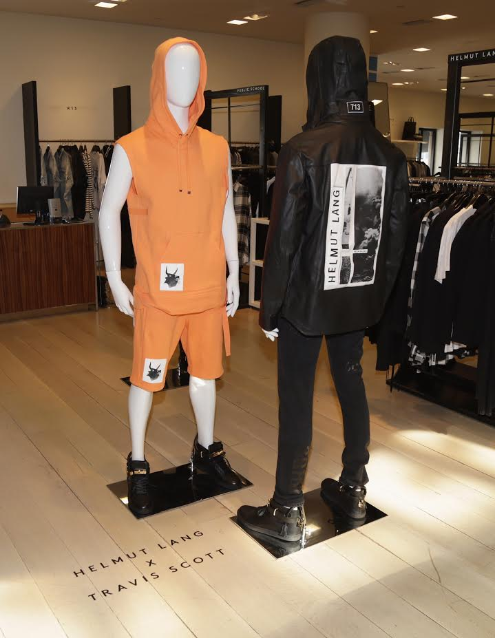BEVERLY HILLS, CA - JANUARY 30: General view of the Helmut Lang X Travis Scott collection at Barneys New York Beverly Hills on January 30, 2017 in Beverly Hills, California. (Photo by Jerritt Clark/Getty Images for Barneys New York)